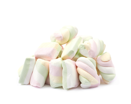 marshmellow: Pile of marshmallow candies isolated