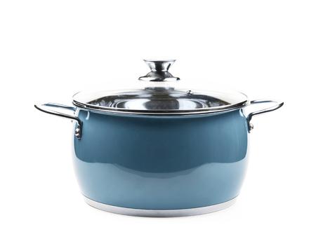Steel green stock pot isolated Imagens - 71026376