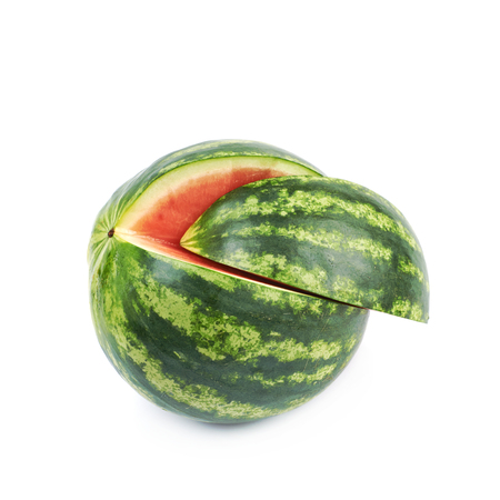 Sliced watermelon isolated Stock Photo