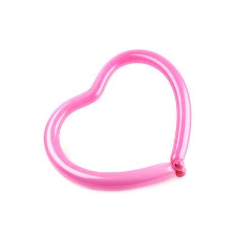 Heart shape made of balloon
