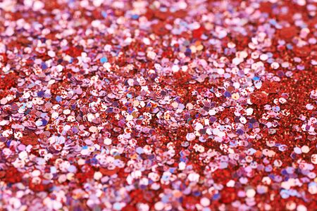 Surface coated with colorful sequins Stock Photo