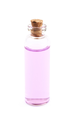 vial: Vial filled with colored liquid