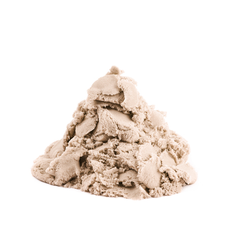 Pile of kinetic sand isolated