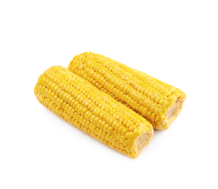 Composition of two corncobs Stock Photo