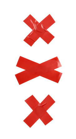 Cross made of insulating tape isolated