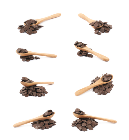 morsels: Chocolate chips composition isolated