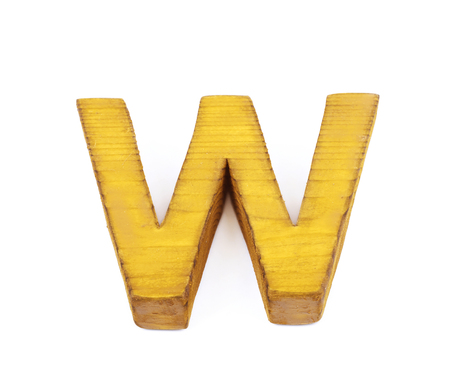 normal school: Single sawn wooden letter isolated
