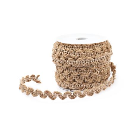 Decorational rope string on a bobbin Reklamní fotografie