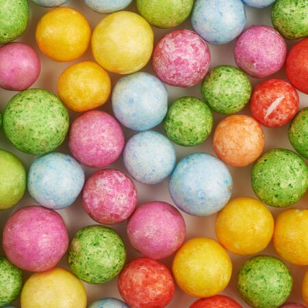 Surface coated with colorful balls