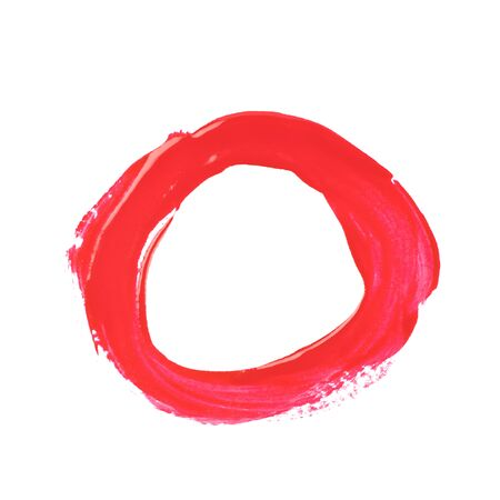 brushstroke: Circle made with a paint stroke isolated