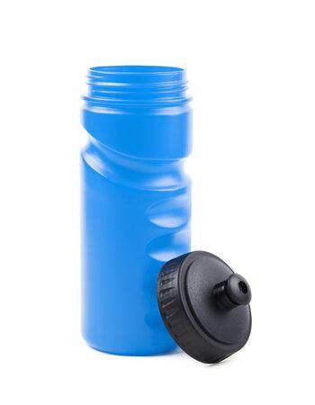 replenish: Plastic sport water bottle isolated Stock Photo