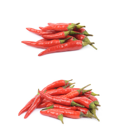 capsaicin: Red italian peppers isolated