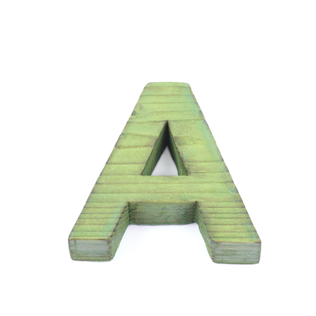 sawn: Single sawn wooden letter isolated