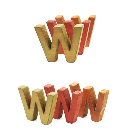 World wide web acronym isolated