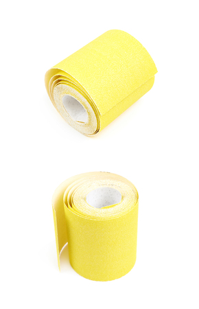 Roll of a sandpaper isolated Stock Photo