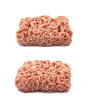 Pack of a minced meat isolated