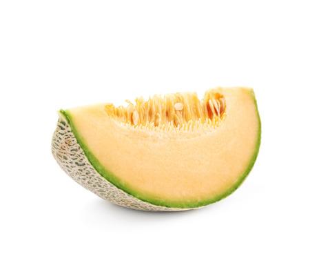 Single slice of a melon Stock Photo