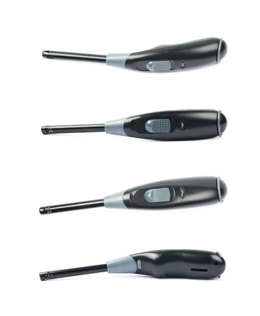 gas lighter: Utility long-neck lighter isolated