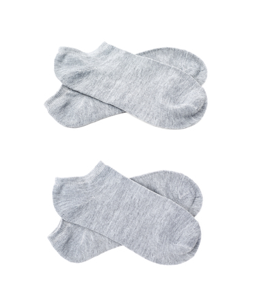 Pair of low-cut ped socks isolated