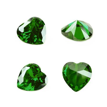 diamond stones: Heart shaped gem stone isolated Stock Photo