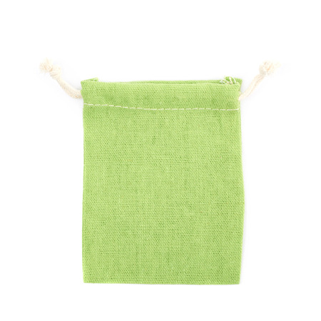 Cloth gift bag isolated