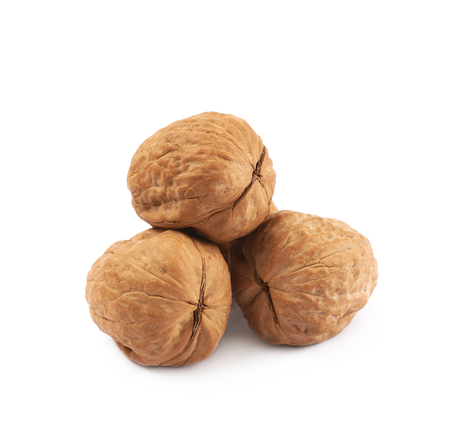 Pile of walnuts isolated