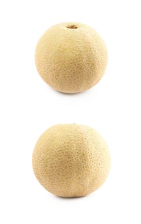 Cantaloupe melon fruit isolated Stock Photo