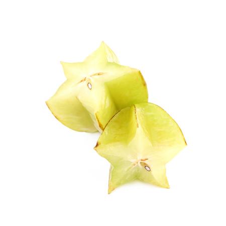 Sliced carambola fruit isolated