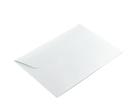 sign post: Closed paper envelope isolated over the white background