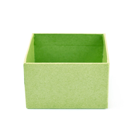 storage box: Paper gift box isolated over the white background