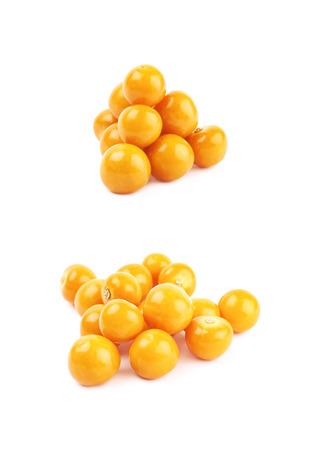 Pile of multiple physalis fruits