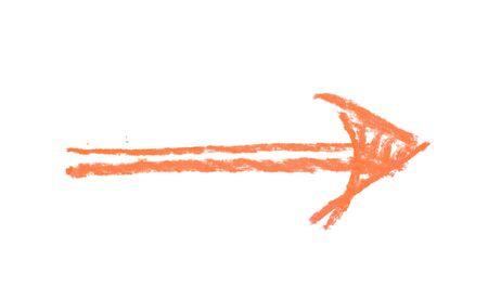 doodled: Hand drawn arrow symbol isolated