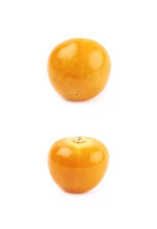 Single physalis fruit isolated Stock Photo