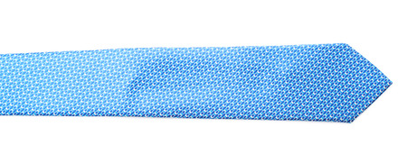 Fragment of a costume tie isolated over the white background Stock Photo