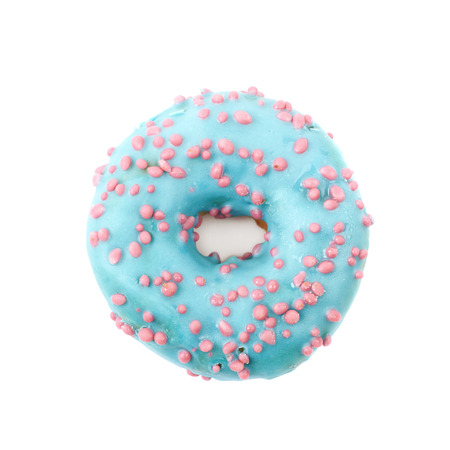 Single glazed sweet donut isolated over the white background