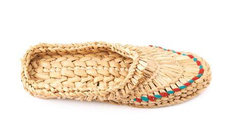 Bast shoe isolated Stock Photo
