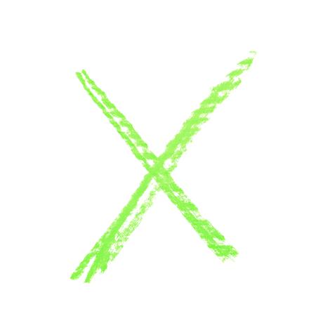 Hand drawn X mark isolated Stock Photo