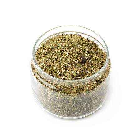 Mate tea leaves in a jar