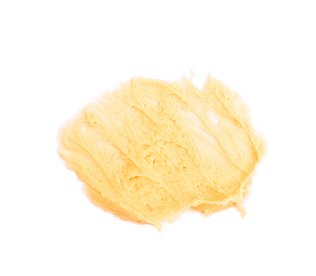 Smeared frosting cream isolated Stock Photo