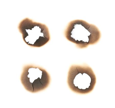 Papierbrandvlek vlek geïsoleerd Stockfoto