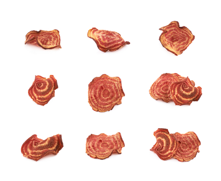 Vegetable chips isolated