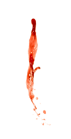 Splash of transparent liquid in motion isolated over the white background Banco de Imagens