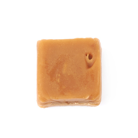 Scottish whisky fudge candy isolated over the white background