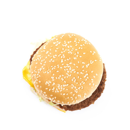 Generic burger composition isolated over the white background