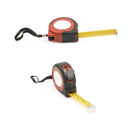 Tape measure tool isolated