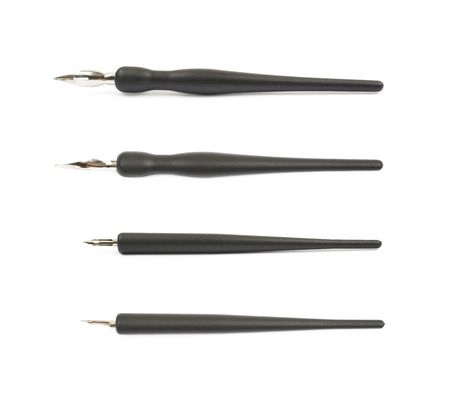 Ink pen metal nib isolated Zdjęcie Seryjne