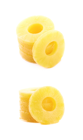 Canned pineapple slice composition