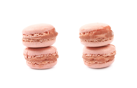 Two macaron cookies isolated 스톡 콘텐츠