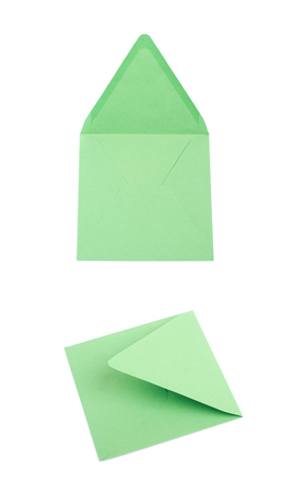 Sqaure shaped paper envelope isolated Stock fotó