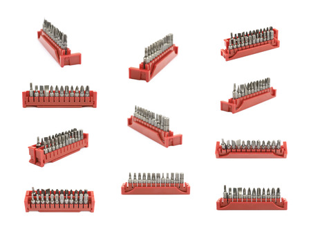 Set of screwdriver bits isolated